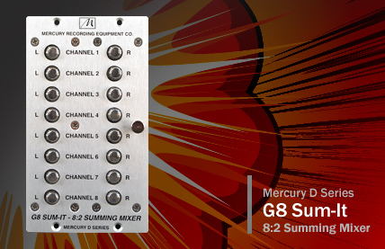 G8 Sum-It 8:2 Summing Mixer Module